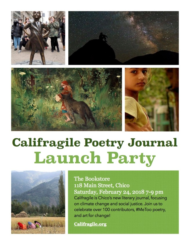 Califragile Launch Party Poster 2:24:18