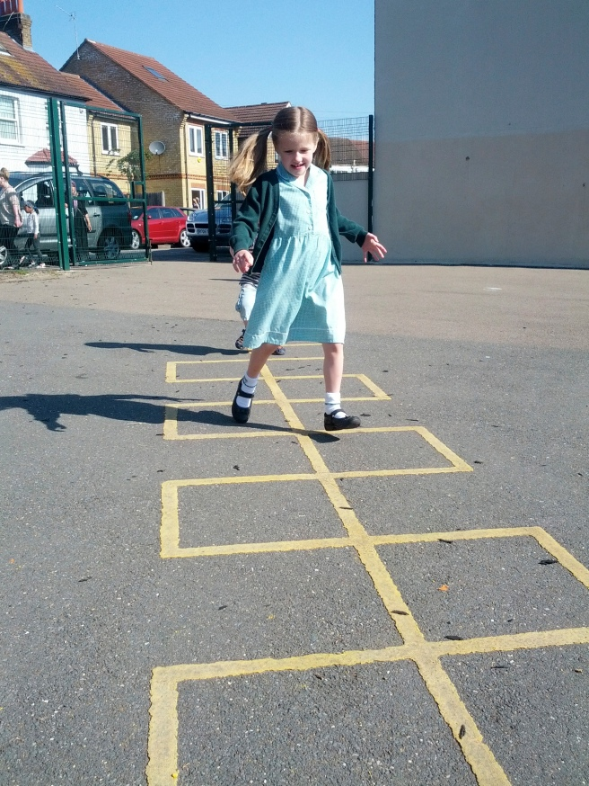 Hopscotch_in_schoolyard author Jeremy Tarling