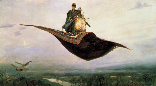 Riding on a Flying Carpet, Viktor Vasnetsov 1880