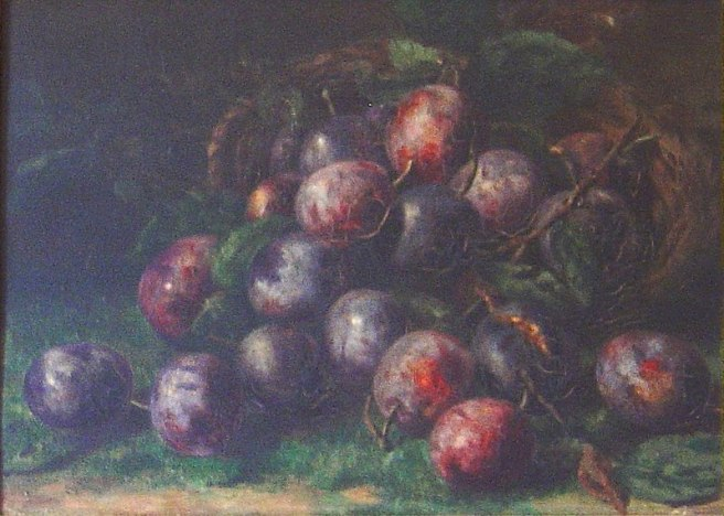 plums, still life, artist unknown plumbing betsy mars