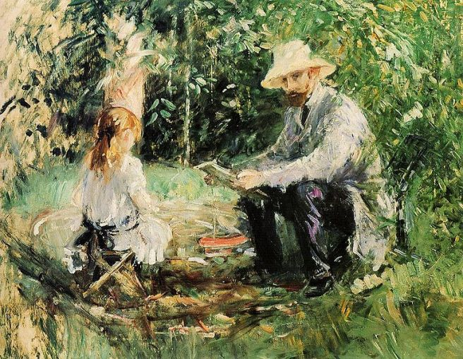 774px-Eugene_Manet_and_His_Daughter_in_the_Garden_1883_Berthe_Morisot-1