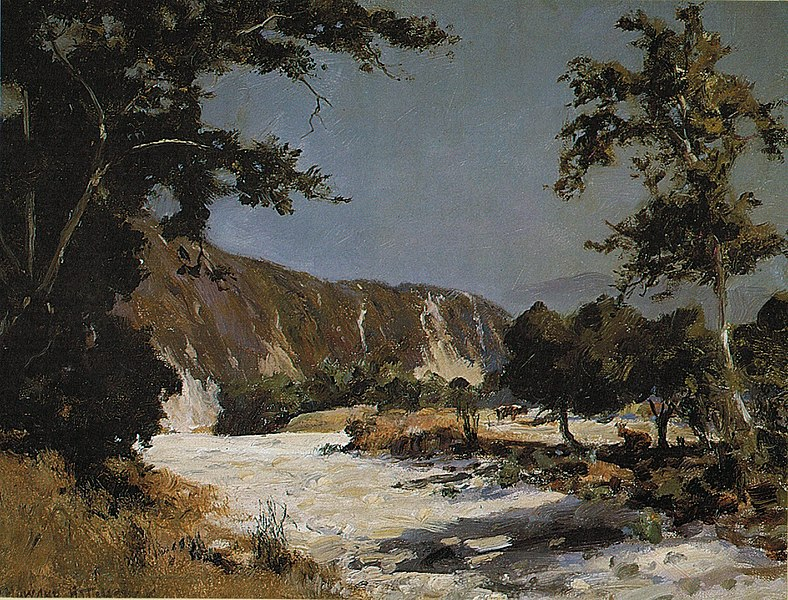 788px-'Dry_Arroyo,_California'_by_D._Howard_Hitchcock,_1910