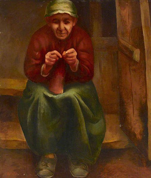 507px-Natan_Szpigel_Woman_knitting